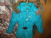 Курточка детская зимняя размер 38 (146-152)